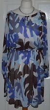 Boat Neck 3/4 Sleeve Boho, Hippie Dresses for Women