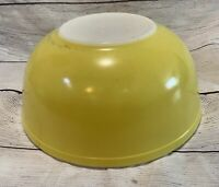 Vtg Primary Yellow Pyrex Large 4 Qt Nesting Mixing Serving Bowl #404 Ovenware