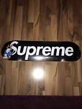 Supreme x Smurfs Skatedeck Schwarz 8.25 Supreme x Schlümpfe NEU