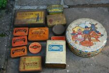 Old tins- an assortment, tobacco, pastilles etc
