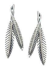 Mode-Ohrschmuck aus Federn und gemischten Metallen