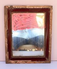 1900's Antique Wooden Hand Carved German Glass Mirror Frame Decorative