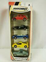 1999- MATCHBOX - MORE CARS , CARS , CARS- #92528- 5 PACK - NIB