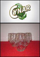RARITA'!!! Cynar SERVIZIO BAR 6 BICCHIERI vetro a forma di carciofo Glass Verre