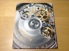 ZENITH - Colección III Catalogue Book - Watches Relojes Montres - Spanish