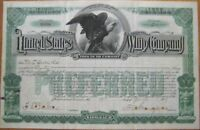 1919 Stock Certificate - ''United States Whip Company''