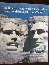 1988 Johnny Walker Good Taste is Always an Asset Mount Rushmore Advertisement