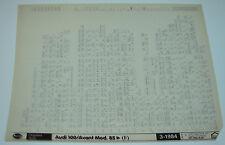 Microfich Ersatzteilkatalog Audi 100 / Avant Typ 44 / C3 Stand März 1984!
