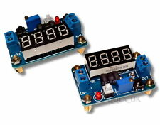 4.5-24V to 1-20V 2A Voltage Regulator DC Buck Converter Voltmeter Ammeter Blue