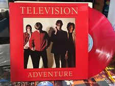 Television - Adventure LP - RED VINYL WITH INSERT - NEAR MINT - RARE!!!!!!!!!!!!