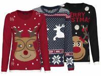 ESMARA® Damen Weihnachtspullover Pulli Weihnachten Pullover Strickpullover (R14)