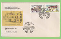 Cyprus (Turkish) 1990 Europa PO Buildings set on Post Office First Day Cover
