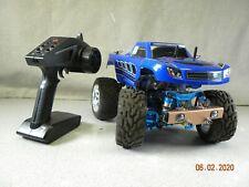 Tamiya - RC 1/24 Scale 4WD Chassis GF01 W/ Blue Traxxas Prerunner Body Spektrum