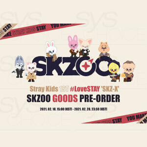 Stray Kids Official Goods 1ST#LoveSTAY SKZ-X SKZOO Character MD + Tracking Num