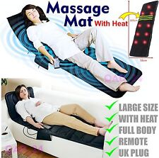 Flat Bed Massage Mat Mattress Back Full Body Massager Chair Heat With Remote