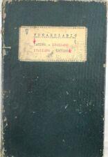 X 0544 VOLUME VOCABOLARIO LATINO-ITALIANO e ITALIANO-LATINO, DI G. CAMPANINI ...