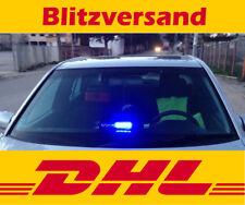 Auto LED Blaulicht / Blitzlicht / Frontblitzer / Strobo / Polizei / RTW / blau