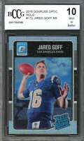 2016 donruss optic holo #172 JARED GOFF los angeles rams rookie card BGS BCCG 10