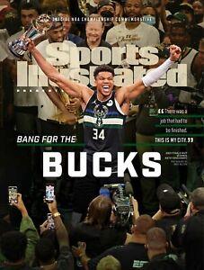 2021 Sports Illustrated Milwaukee Bucks Giannis Antetokounmpo COMMEMORATIVE