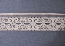 Vintage Flowers Ribbon Insertion Space Lace Trim Edging 2 1/2 Yards X2
