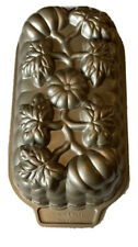 Nordic Ware Pumpkin Loaf Pan Beige Autumn USA 1 Pound Leaves