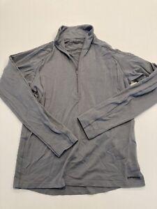 Patagonia Men's Medium Capilene Merino Wool Base Layer 1/4 Zip Sweater