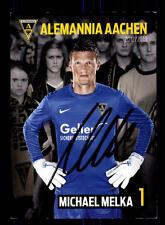Michael Melka  Autogrammkarte Alemannia Aachen 2012-13 Original Sign+A 162231