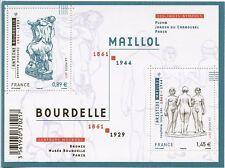 TIMBRE FRANCE NEUF BLOC  FEUILLET N° F4626 ** ART SCULTURES D'ANTOINE BOURDELLE