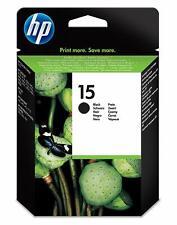 ➡️➡️▫️ HP N° 15 - Cartouche d'encre d'origine, HP15, Noir, 14ml, C6615DE