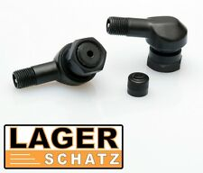 2 x Alu Winkelventile schwarz Motorrad Reifenventil eloxiert 8,3 mm tire valve