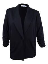 Kasper Womens Black Shawl Collar One-button Blazer Jacket Plus 3x BHFO 1747