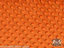 Minky Dot Fabric Orange Fabric By The Yard Polyester Fur Fabric Soft Fabric New