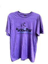 Healing with Horses Ranch T-Shirt, Purple XLarge