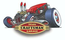 CRAFTSMAN TOOL STICKER 1950 RAT ROD DECAL MECHANIC TOOLBOX SIGN CHEST USA