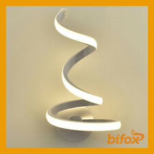 APPLIQUE SPIRALE LAMPADA A PARETE 12 WATT LED LUCE NATURALE DA INTERNO MODERNO