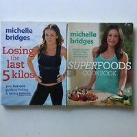 2 x Michelle Bridges Books - Losing The Last 5 Kilos - Superfoods Cookbook PB