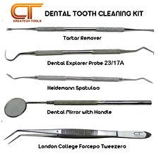Dental raspador de dientes raspador Pick Herramientas Kit cálculo Placa Sarro remover 5-PCs