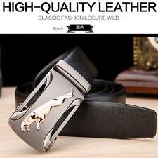 Mens Genuine Leather Belts Automatic Buckle Fashion belt Black Brown 110-130cm