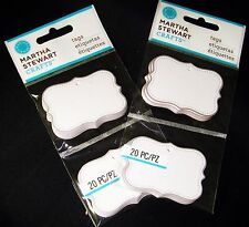 Martha Stewart Crafts Flourish Rectangle Tags 2 packs total 40 pcs Silver Foil