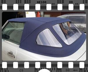 Mercedes SL R107 Verdeck Neu! Sonnenlandstoff in blau! TOP QUALITÄT!