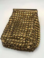 Vintage GoldTone Mesh Cigarette Case or change purse with hinged lid