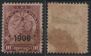 **PARAGUAY*    Sg. 192,   optd.  1908,