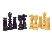 Nordseeküste KH 3.75'' 34 Schachfiguren Set Holz 4x Dame Handschnitz Indien