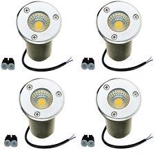 4 PCS LED Landscape Lights 3W Walkway Garden Outdoor Lighting COB Inground Lamps