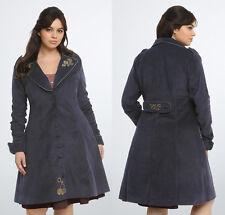 Torrid Doctor Who Tardis Navy Steampunk Victorian Trench Coat Women Plus Size 5X