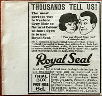 Royal Seal Thousands Tell Us The Most Perfect Way to Restore Grey Hair Ad 1922