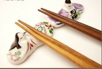 2pcs HASHIOKI japanese chopstick rest MINO yaki ware HINA doll ningyo japan