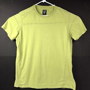 KUHL Mens T shirt Short Sleeve Crew Neck Supima Cotton Green Cosmetic 2nd