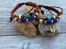 His & Hers Lock and Key Leather Couple Bracelet Lovers Braclet Friendship CP-328