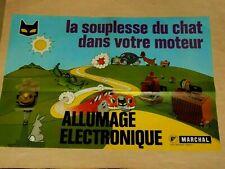 Affiche MARCHAL Automobile Phare Chat Vintage Car Allumage Poster Valeo